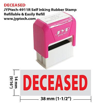 Deceased - Jyp 4911r Self Inking Rubber Stamp Red Ink