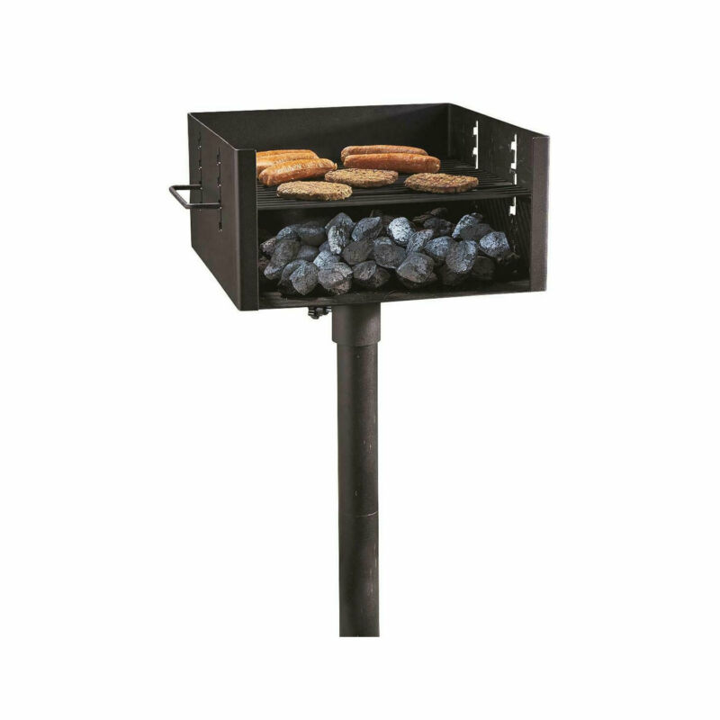 Guide Gear Heavy Duty Extra Large Park Style Charcoal Grill with 4 Levels, Black