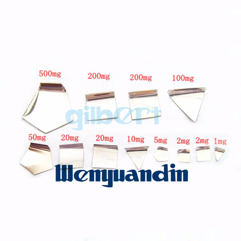 A Set Of 12pcs Milligram Calibration Weight Set 1mg to 500mg For Balance Test F1