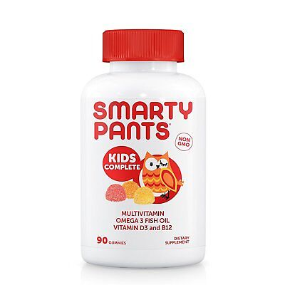 SmartyPants Kids Complete Gummy Vitamins: Multivitamin & Omega 3 Fish Oil ](Gummy Fish)