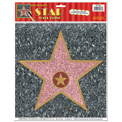 HOLLYWOOD STAR AWARDS NIGHT PEEL 'N' PLACE WALL CLING DECORATION (Star Awards)