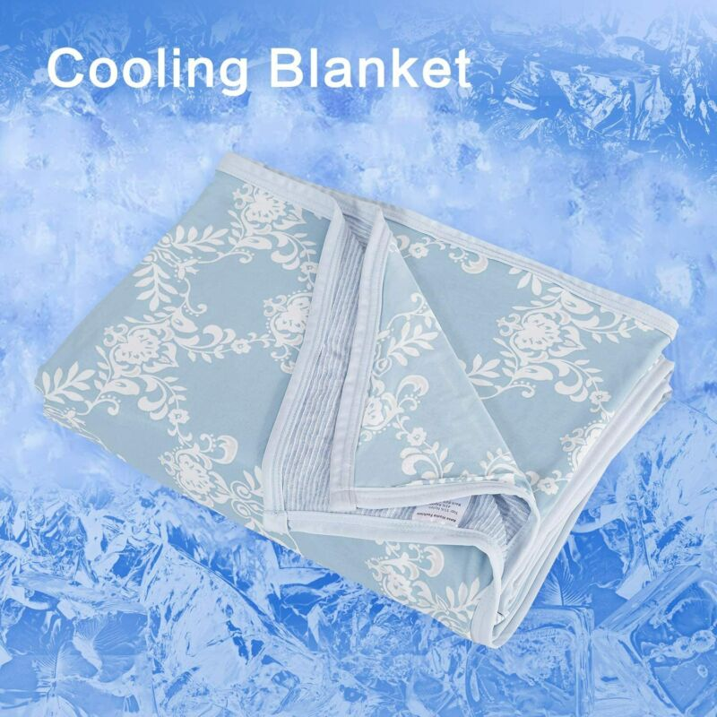 """71"""" × 79"""" Cooling Blanket for Sleeping Bed Summer for Night Sweats Lightweight"""
