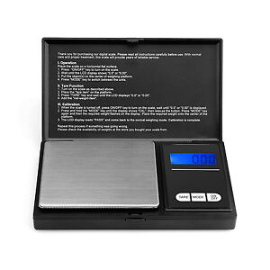 Digital Scales 0.1g x 500g Pocket Weighing Coin Gold Gems Jewellery Herbs
