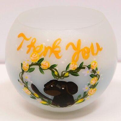 "Handmade animal ""DOG"" picture, Floating Ball bath candle Jasmine Paraffin Wax"