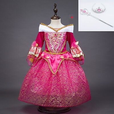 Sleeping Beauty Princess Aurora Party Dress kids Costume Dress for girls  ZG8 - Costume For Kids Party