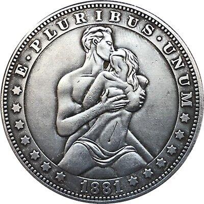 Hobo Nickel  1881-CC USA Morgan Dollar Couple COIN