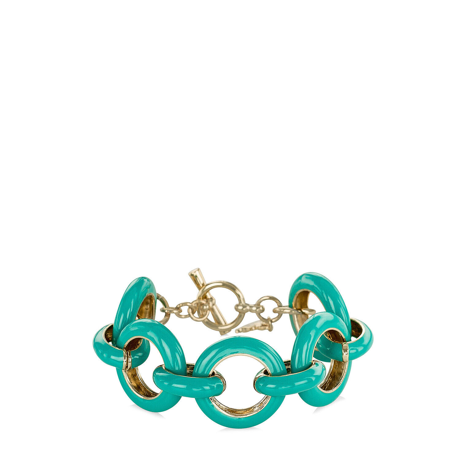 fairhaven chunky gold plated and enamel bracelet