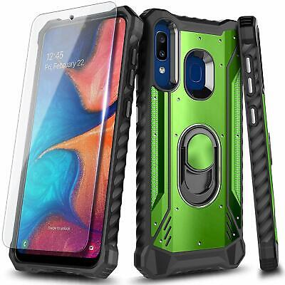 For Samsung Galaxy A10E A20 A30S A50 A51 Case Magnetic Ring Stand Phone Cover