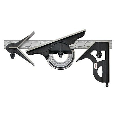 12 4r Combination Set W Square Center Reversible Protractor Head Blade
