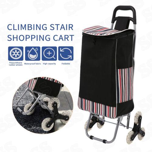 Stair Climbing Cart 3Wheel Folding Shopping Laundry Climber Rolling Trolley Bag~