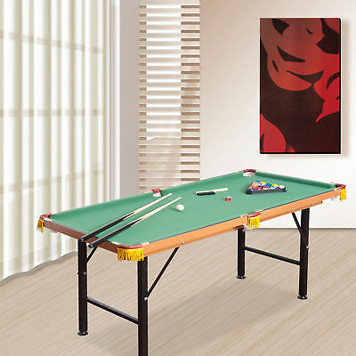 New 4 5Ft Mini Table Top Pool Table Game Billiard Board Play With Balls Set Cues