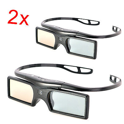 2x Replacement Active Shutter 3D Glasses for Sony TV Projector TDG-BT500A 400A