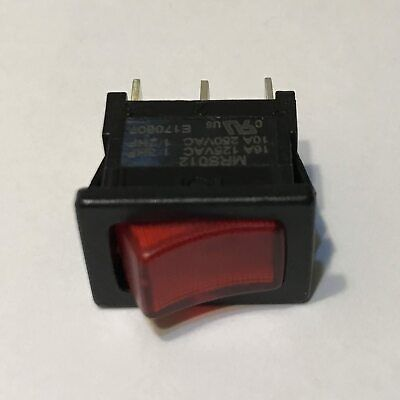 Appliance Mini Rocker Switch On-off Spst Red Black - Lighted - M70192