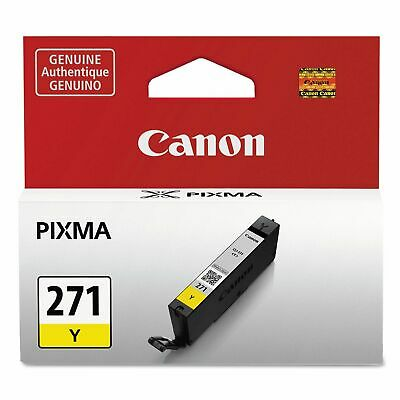 Genuine Canon CLI-271Y 271 Yellow Ink Tank  (0393C001) Genuine Yellow Ink Tank
