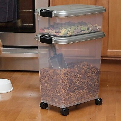 - Large Pet Food Storage Container Iris Airtight Bird Cat Dog Pet Supplies Box NEW
