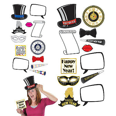 Happy New Year Photo Fun Signs Props New Years Eve Party Pictures