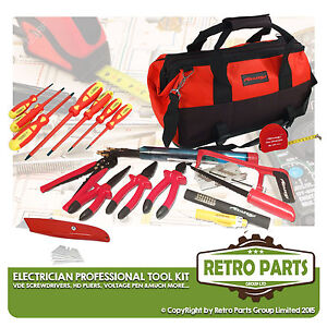 Professional Electricians Tool Kit with VDE Screwdrivers, Bag Volt Tester Pliers