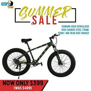 Fat/Beach bikes/Mountain Bikes lock Suspension with Shimano gears
