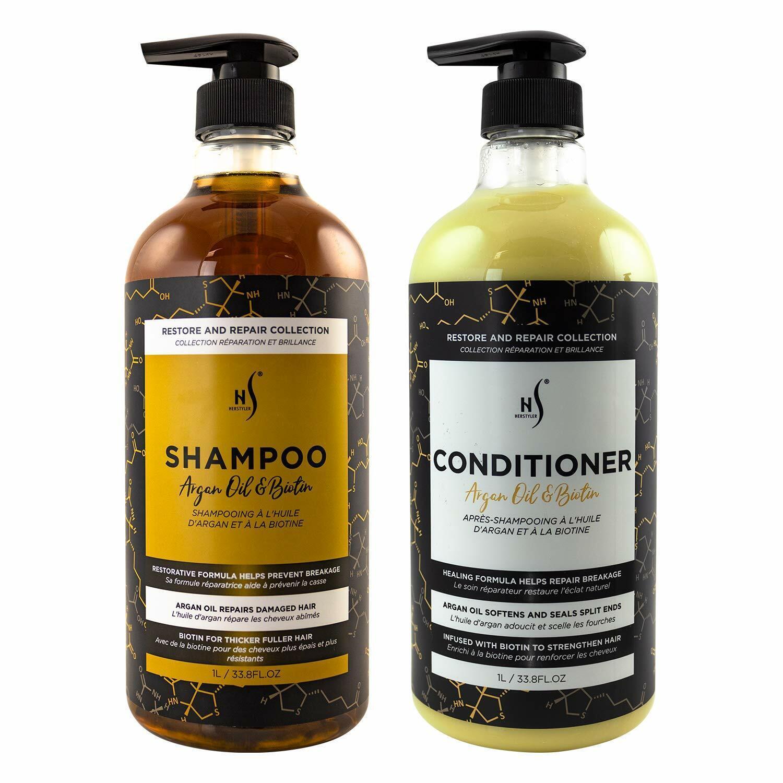 Herstyler Moisturizin Argan Oil Biotin Shampoo & Conditioner