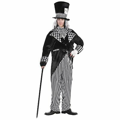 Mens Totally Mad Hatter Costume Plus Size Alice in Wonderland Halloween Outfit - Alice In Wonderland Halloween Costume Plus Size