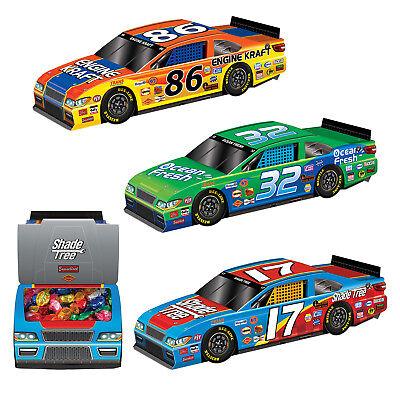 3 Race Car Centerpieces Candy Favor Birthday Party Checkered Nascar Racing Event