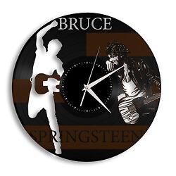 Bruce Springsteen Clock Idea for Music Fans Vinyl Wall Art Decor Bedroom Gift