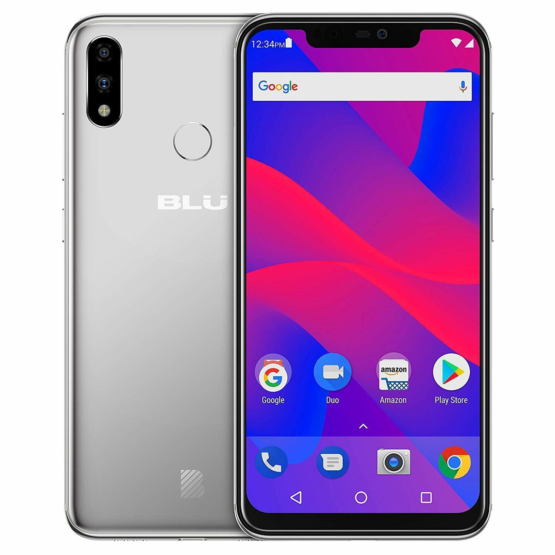 BLU Vivo XI+ Smartphone Silver 6GB RAM 128GB Unlocked GSM AT