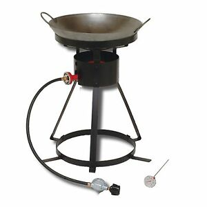 King Kooker 24 Inch 54000 Btu Propane Wok Outdoor Cooker Cast Burner