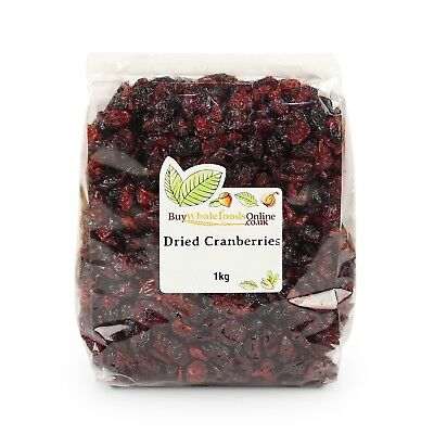 Dried Cranberries 1kg Bulk   Buy Whole Foods Online   Free Mainland UK P&P