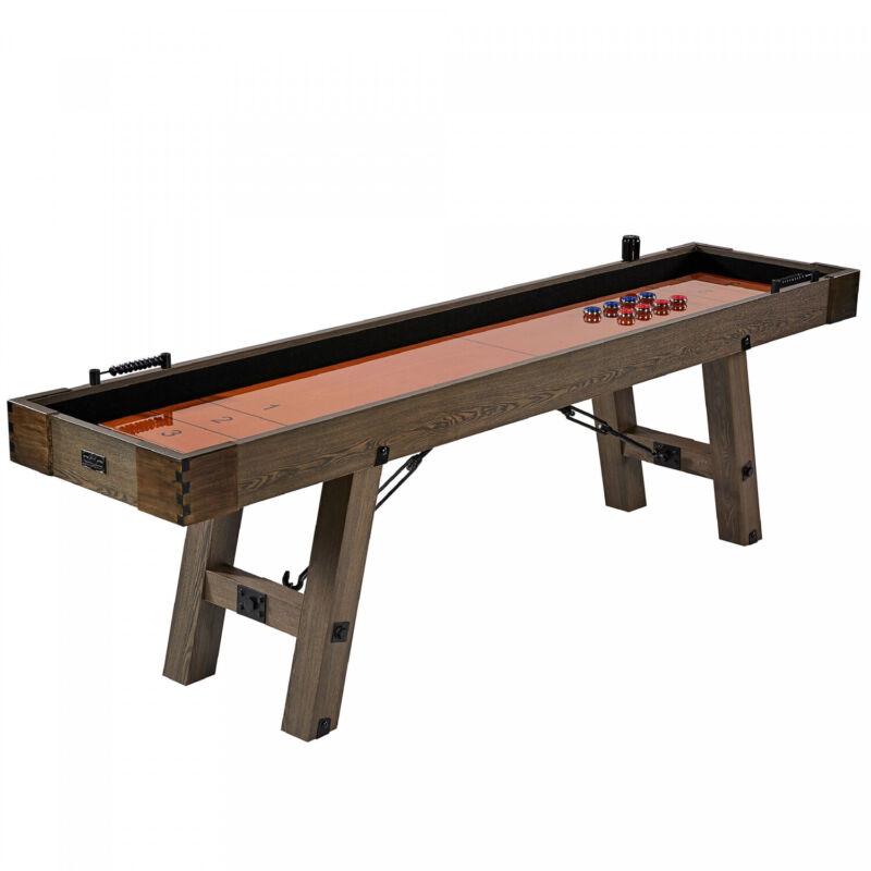 9 Ft Premium Shuffleboard Table Family Game Entertainment Room Bachelor Pad Bar