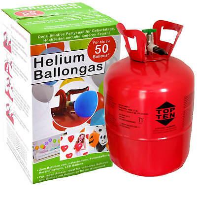 r ca. 50 Luftballons Flasche Heliumflasche Party Gas 0,42 m³ (Gas Für Ballons Party)