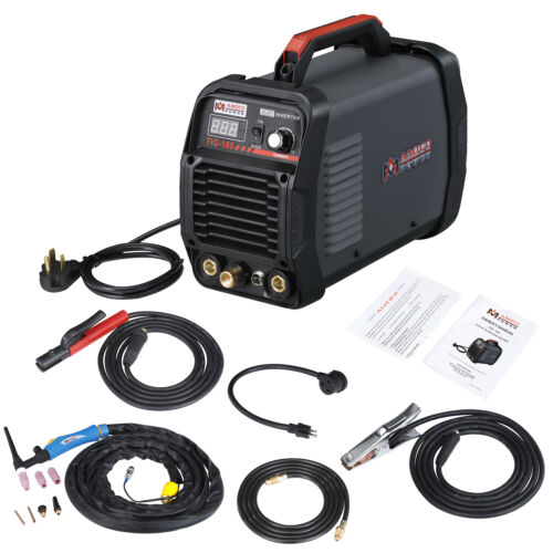 TIG-165, 160 Amp HF-TIG Torch Stick Arc DC Welder, 115/230V Dual Voltage Welding