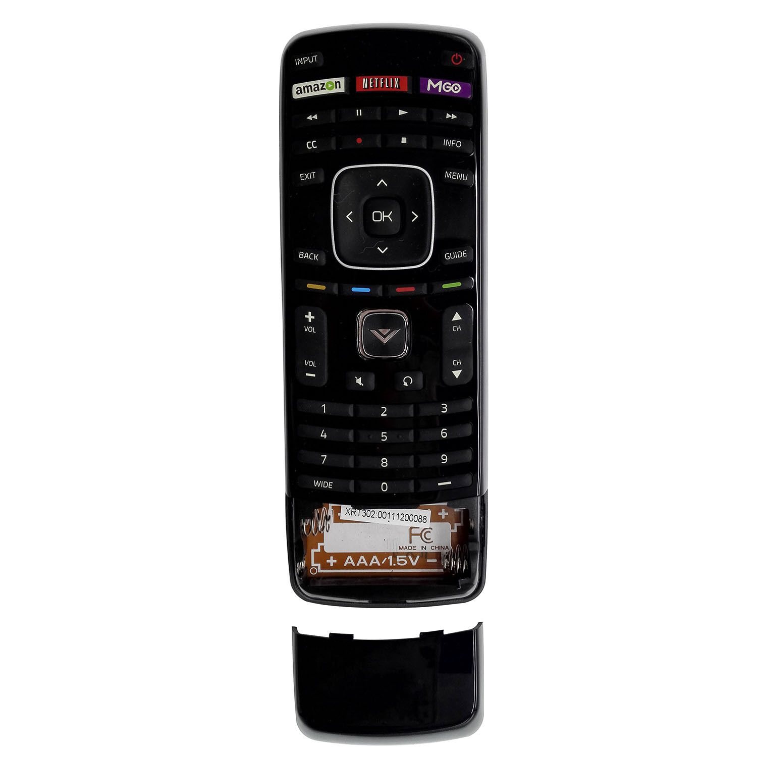 Brand New VIZIO XRT302 (XRT112 keyboard version) Remote for Smart TV with M-GO