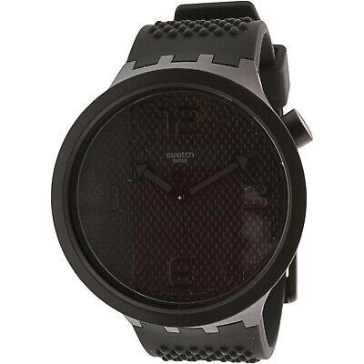 Swatch Men's Bbblack SO27B100 Black Silicone Quartz Fashion Watch