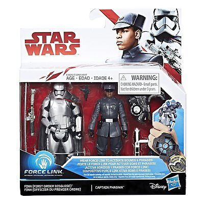 "Star Wars 3.75"" The Last Jedi FIRST ORDER FINN CAPTAIN PHASMA 2-Pack IN STOCK"