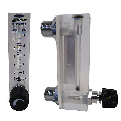 Prm 1-10 Scfh 0.5-5 Lpm Air Injection Rotameter Integrated Flow Control Nib