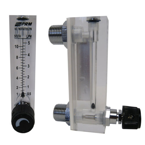 PRM 1-10 SCFH / 0.5-5 LPM Air/Gas Injection Rotameter Integrated Flow Control
