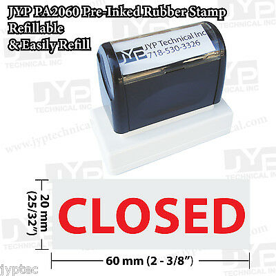 New Jyp Pa2060 Pre-inked Rubber Stamp With Closed