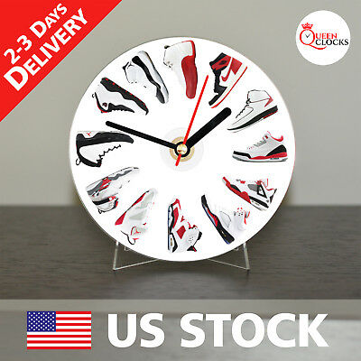Nike Air Jordan Wall Clock Decor CD Shelf Table Art Design Birthday Gift Ideas](Birthday Wall Ideas)