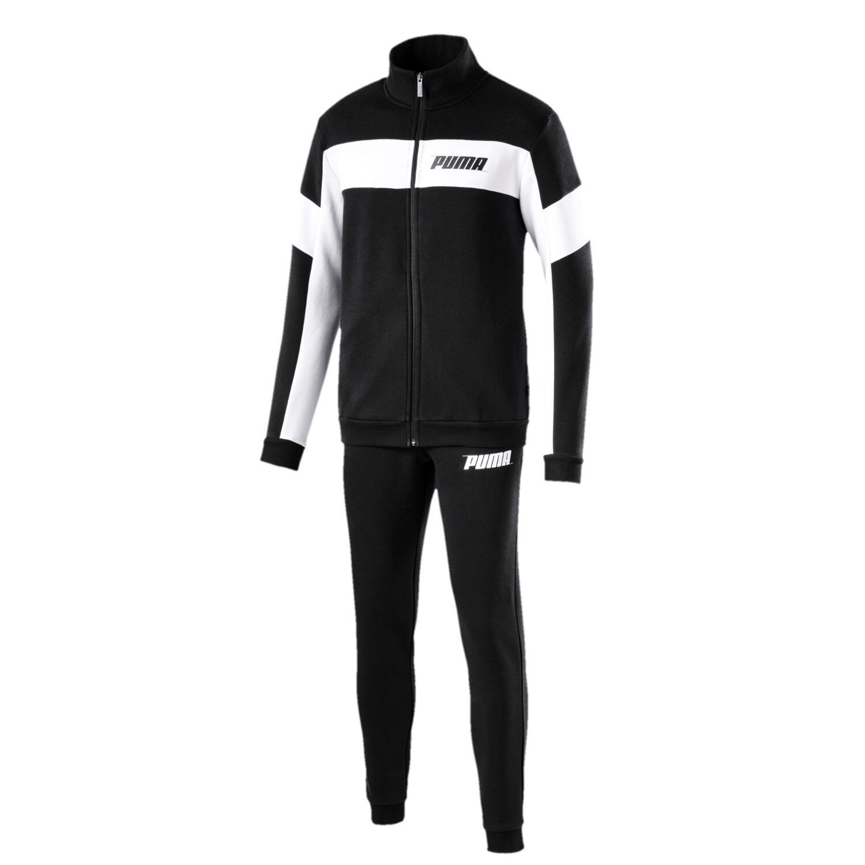 93774aea61052 Puma Jogginganzug Herren aus Baumwolle Sportanzug Trainingsanzug  schwarz-weiss