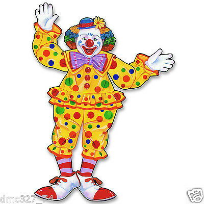 CIRCUS Carnival Big Top Tent Party Decoration Prop Jointed CIRCUS CLOWN 30