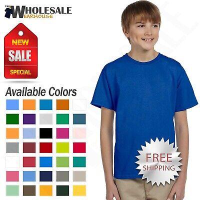 Gildan Youth Short Sleeves 100 % Ultra Heavy Cotton Kids T-S