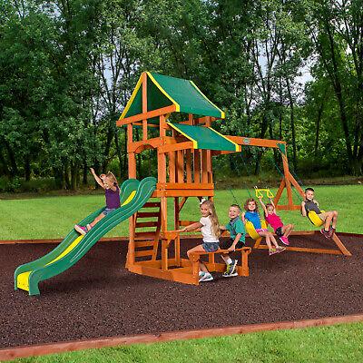 Playground Equipment Kids Jungle Gym Toddler Slide Swing Set
