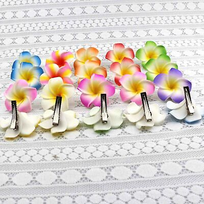 5-10PCS 2 Inch 10 Colors Hawaiian Plumeria Flower Hair Foam Hawaii Hair - Hawaiian Hair Clips