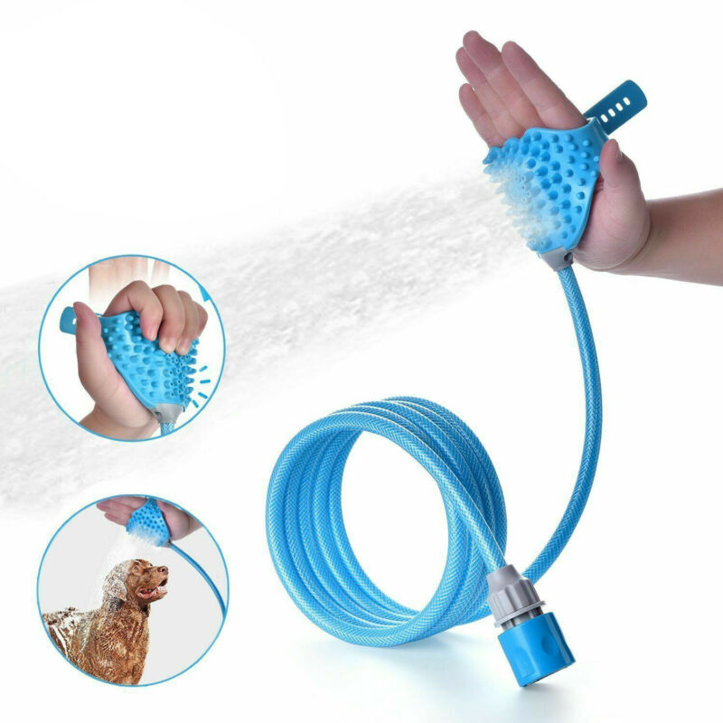 Pet Dog Cat Bath Shower Bathing Tool Brush Water Washer Sprayer Head Cleaning