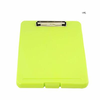 Green Storage Nursing Clipboard Case Plastic Document Letter Size Holder