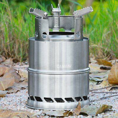 Camping Wood Burning Stove Compact Camp Portable Outdoor Backpacking Hiking -