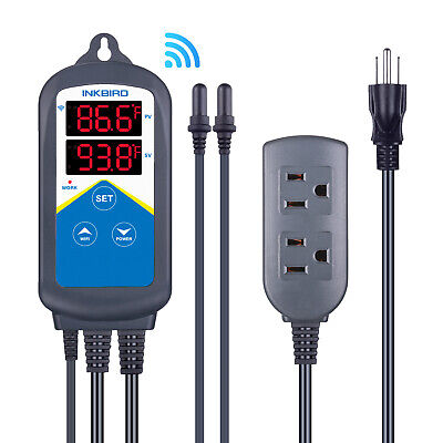 Inkbird Aquarium Tank Wifi Temperature Controller 306a 1200w Thermometer 2probes