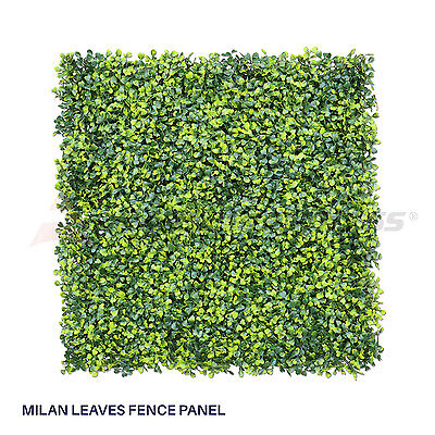 Artificial Faux Boxwood Milan Leaves Leaf Decorative Fence Screen 20'' x 20