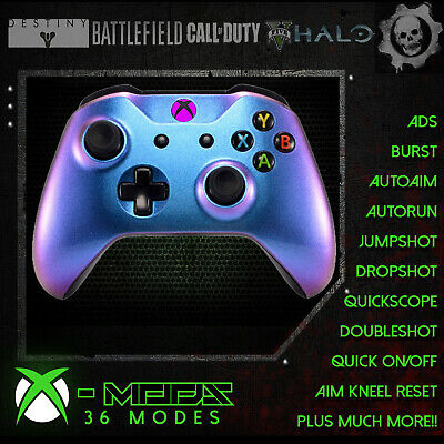 XBOX ONE RAPID FIRE CONTROLLER -Blue Pearl- BEST MOD ON EBAY! Custom - FPS